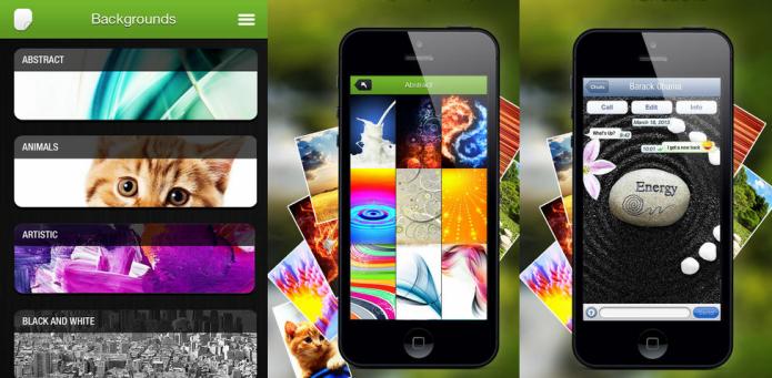 Coloque bonitos papeis de parede no seu seu WhatsApp e no iOS (Foto: Divulgação/AppStore)