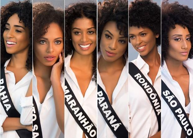 Miss Bahia, Miss Espírito Santo, Miss Maranhão, Miss Paraná, Miss Rondônia, Miss São Paulo (Foto: Manuela Scarpa/Brazil News)