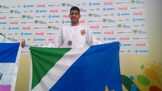 Gabryel Vieira Romeiro, do judô, bronze nos Jogos Escolares da Juventude (Foto: Divulgação/Fundesporte)