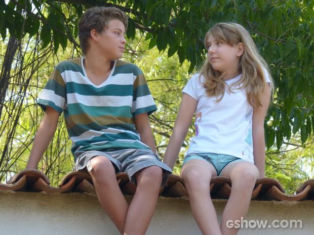Sidney e Sofia mais novos  (Foto: Malhação / TV Globo)
