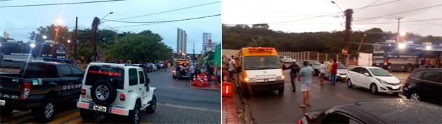 A Fiscalização aconteceu na Rua Walter Duarte Pereira, no bairro de Capim Macio,  (Foto: Tenente da PM Styvenson Valentim/G1)