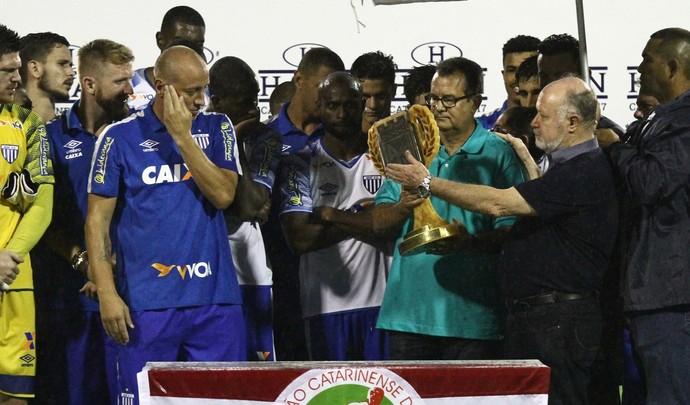 Marquinhos Francisco Battistotti e Rubens Angelotti Taça Atlético Nacion (Foto: Jamira Furlani/Avaí FC)
