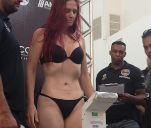 Pesagem Jungle Fight Palmas (Foto: Vilma Nascimento/GloboEsporte.com)
