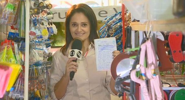 Repórter Carla Suzanne e equipe de jornalismo fizeram a reportagem para o Bom Dia Brasil (Foto: Divulgação/TV Sergipe)