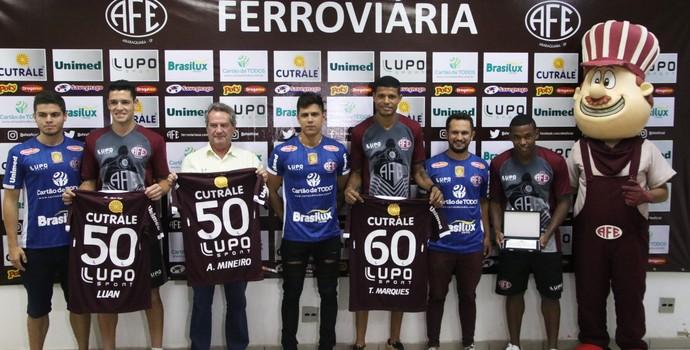 Ferroviária Carlos Salmazo Alan Mineiro Tiago Marques Luan (Foto: Divulgação / Ferroviária)
