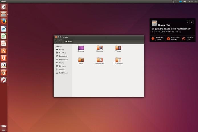 Área de trabalho do novo Ubuntu  (Foto: Divulgação/Ubuntu)