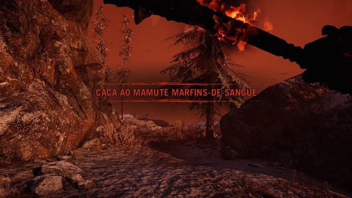 Far Cry Primal: não é possível domar a o mamute (Foto: Reprodução/Victor Teixeira)