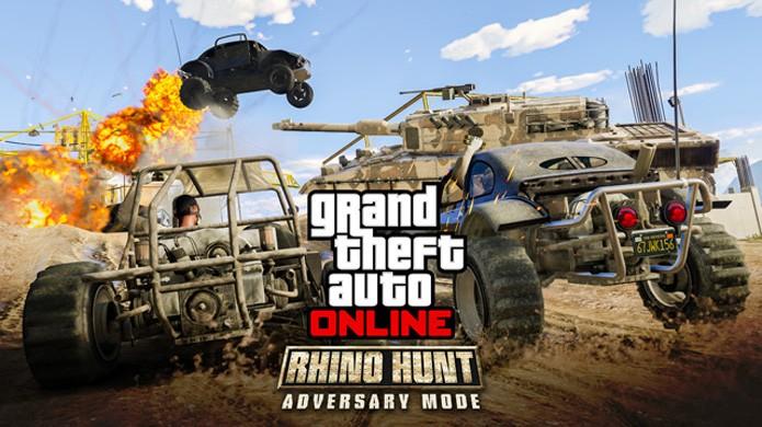 Rhino Hunt traz disputas explosivas para GTA Online, modo multiplayer de GTA 5 (Foto: Reprodução/VG247)