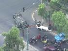 Dois carros capotam em acidente em Deodoro, Z. Oeste do Rio