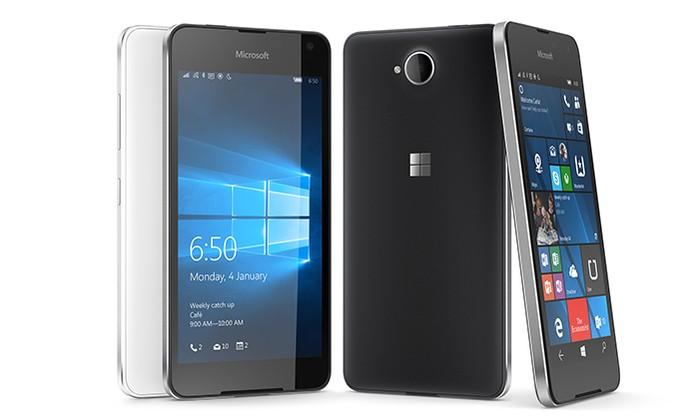 Lumia 650 da Microsoft já vem projetado para rodar Windows 10 Mobile (Foto: Divulgação/Microsoft)