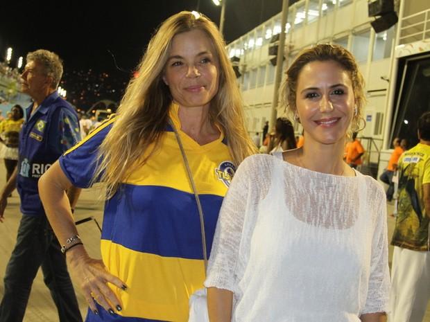 Alexia Dechamps e Guilhermina Guinle em ensaio técnico da Unidos da Tijuca na Marquês de Sapucaí, no Centro do Rio (Foto: Anderson Borde/ Ag. News)