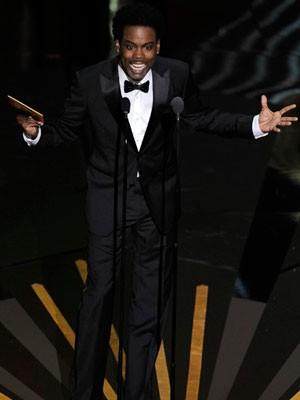 Chris Rock no Oscar de 2012 (Foto: Mark J. Terrill/AP)