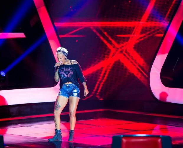 Luana Camarah canta música de AC/DC em sua audição (Foto: Isabella Pinheiro/TV Globo)