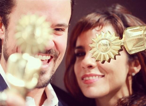 Paulo Vilhena e Maria Ribeiro com seus Kikitos (Foto: Reprodução/Instagram)