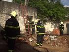 Incêndio destrói loja de fogos de artifício em Fortaleza