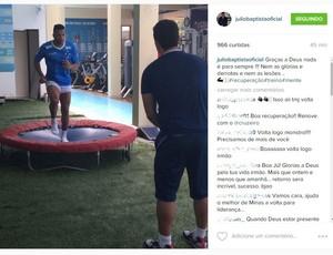 Júlio Baptista posta vídeo, e torcedores pedem sua permanência no Cruzeiro (Foto: Reprodução Instagram)