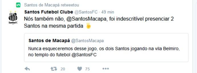 Santos; Santos-AP; Futebol (Foto: Reprodução/Twitter)