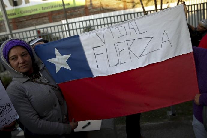 Torcida Vidal (Foto: Agência Reuters)