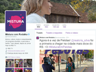 Mistura com Rodaika redes socais twitter (Foto: Otávio Daros/RBS TV)