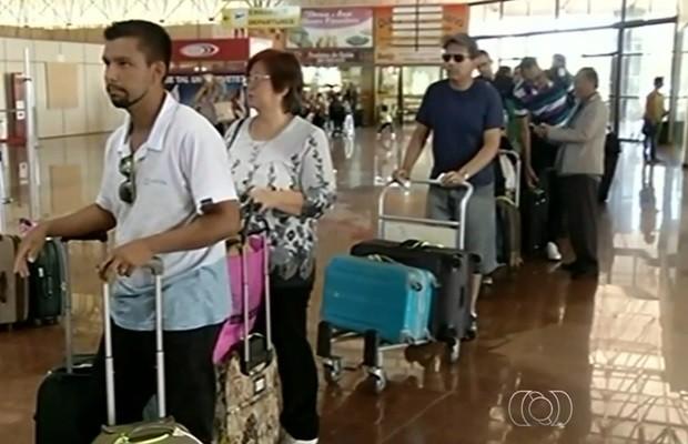 Aeroporto de Caldas Novas deve receber investimentos de R$ 650 mil por concessão (Foto: Reprodução/TV Anhanguera)