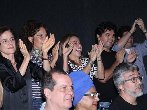 Marieta Severo, Andréa Beltrão e Cissa Guimarães em estreia de peça na Zona Sul do Rio (Foto: Wallace Barbosa/ Ag. News)