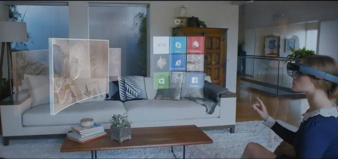 Windows Holográfico: navegue na Internet com hologramas (Foto: Reprodução/Barbara Mannara)