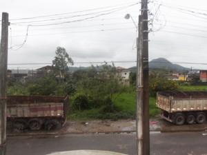 Caso acontece no bairro Tude Bastos, em Praia Grande, SP (Foto: Cleber Paes/VC no G1)