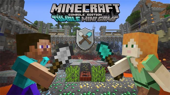 Minecraft ganha novo minigame chamado Tumble ou Queda em português no qual o desafio é tirar o chão dos seus adversários (Foto: Divulgação/Xbox)