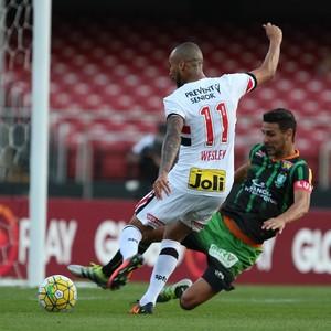 Wesley São Paulo X América-MG Morumbi (Foto: Rubens Chiri/saopaulofc.net)
