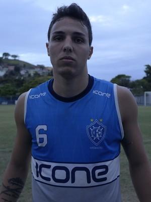 Álvaro, zagueiro do Vitória-ES (Foto: Richard Pinheiro/GloboEsporte.com)