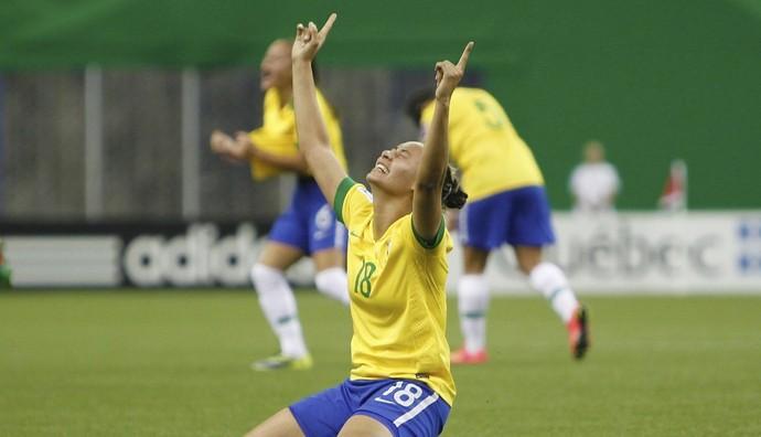 Carol Baiana comemora único gol da Seleção  (Foto: Rafael Ribeiro/ CBF)