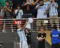Di María não segura o choro após  jogo e faz homenagem à avó falecida