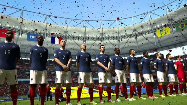 Seleção da França no jogo oficial da Copa do Mundo 2014 (Foto: Divulgação/Electronic Arts')