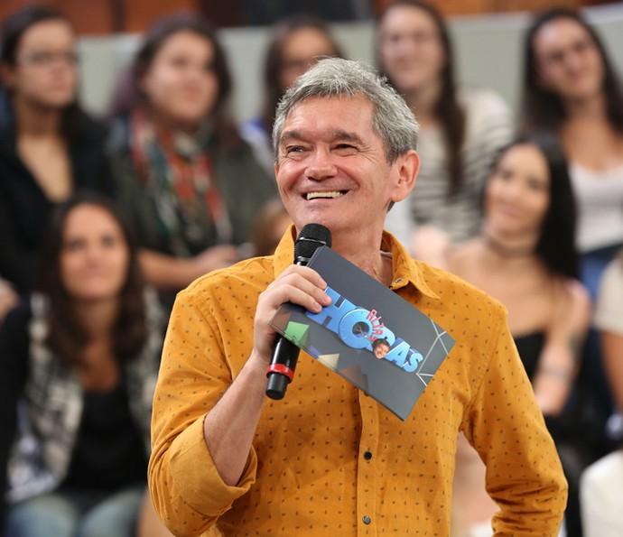 Serginho Groisman durante o comando do 'Altas Horas' (Foto: Carol Caminha/Gshow)