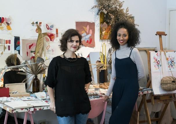Ana Strumpf visita casa da design Lane Marinho. (Foto: Camila Guerreiro)