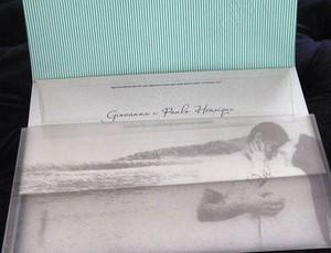 Convite de casamento Ganso (Foto: Divulgação)