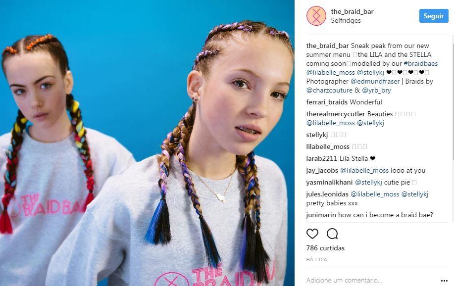 Lila Grace Moss estrela sua primeira campanha (Foto: Reprodução/Instagram)