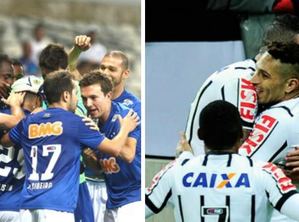 Cruzeiro e Corinthians se enfrentam nesta quarta pelo Brasileirão (Foto: Montagem/GE Grande Minas)
