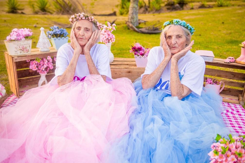 Gêmeas completam 100 anos e fizeram um ensaio fotográfico (Foto: Camila Lima Fotografia)