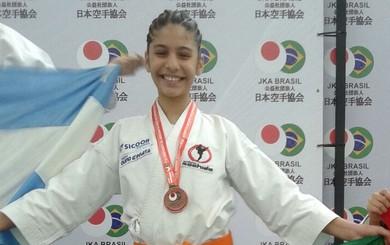 Monã conquista medalha de bronze no Sul-Americano  (Foto: Divulgação/ Carlos André)
