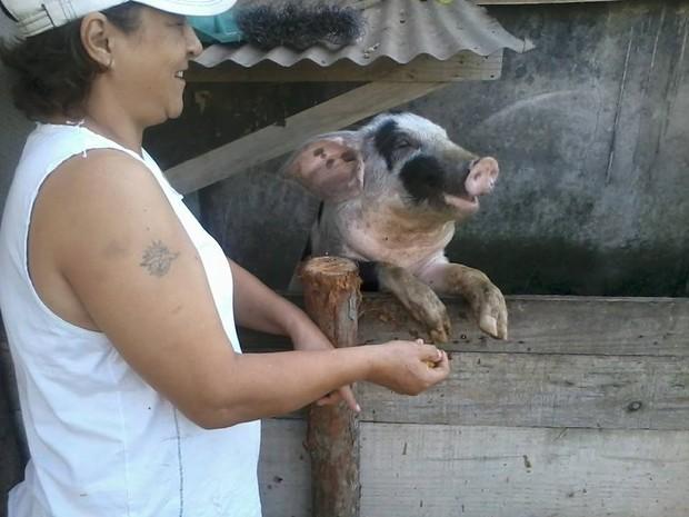 Segundo Soraya, Xiquinha é sorridente Espírito Santo (Foto: Soraya Najar/ VC no G1)
