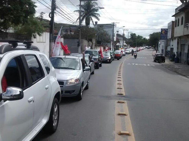VITÓRIA - ES: Protesto neste domingo (31) pede a saída de Temer da presidência (Foto: Frente Brasil Popular ES/ Divulgação)