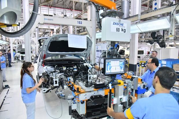 Início produção Volkswagen Polo (Foto: Divulgação)