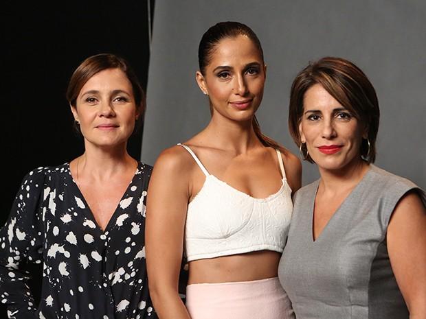 Adriana Esteves, Camila Pitanga e Glória Pires formam um trio de respeito e muita beleza (Foto: Carol Caminha/Gshow)