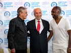 Caetano Veloso e Gilberto Gil visitam ex-presidente de Israel em Tel-Aviv