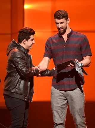 Coldzera; Michael Phelps; The Game Awards (Foto: The Game Awards/PictureGroup)