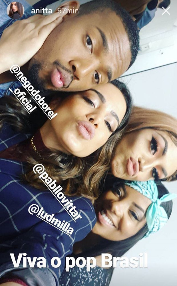 Ludmilla, Anitta, Pabllo Vittar e Nego do Borel (Foto: Reprodução/Instagram)