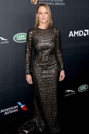 Jodie Foster em premiação em Los Angeles, nos Estados Unidos (Foto: Frederick M. Brown/ Getty Images/ AFP)