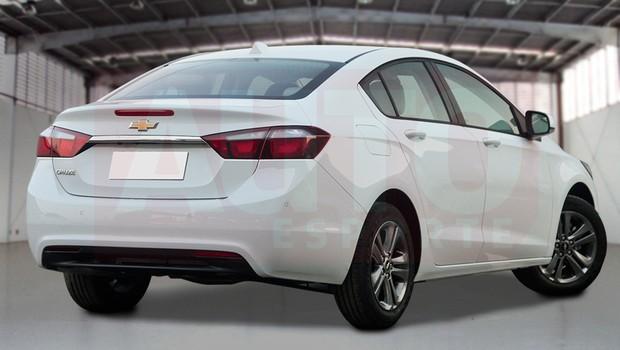 Projeção revela visual do novo Chevrolet Cruze (Foto: Renato Aspromonte/Autoesporte)