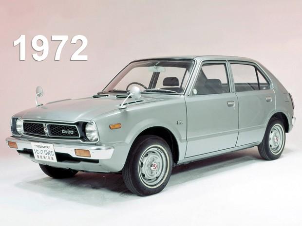Primeira geração do Honda Civic, de 1972 (Foto: Divulgação)